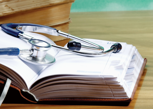 health care stethoscope medical books files